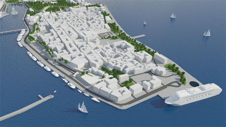 Vizualizacija konačnog izgleda Zadarske rive