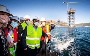 Ministar Oleg Butković u radnom posjetu projektu izgradnje Pelješkog mosta