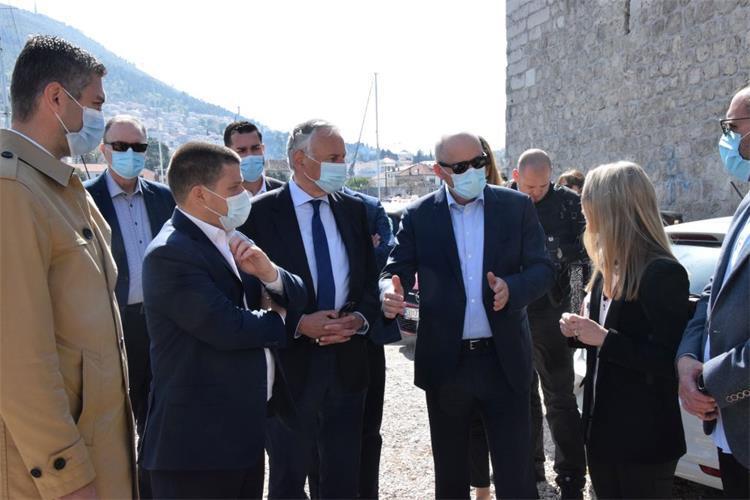 Ministar Butković u obilasku lučkih projekata na području Dubrovačko-neretvanske županije